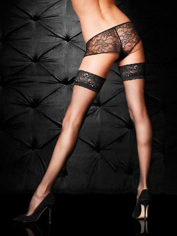 Lace Top Glossy Hold Ups