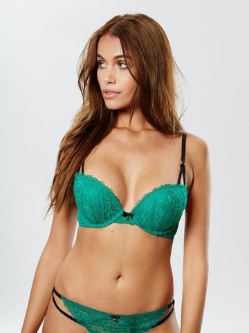 Sexy Lace Boost Bra Green
