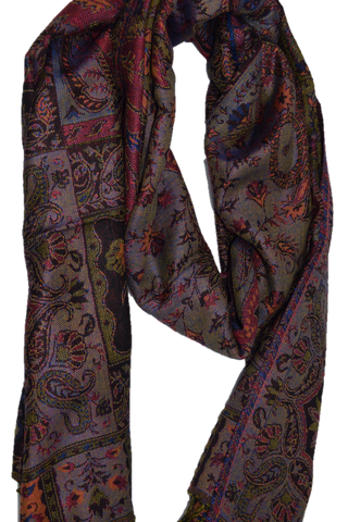 Women's Chic Pashmina - Gray/Orange/Red/Blue - Mix
