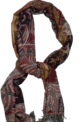Women's Chic Pashmina - Maroon/Black Mix
