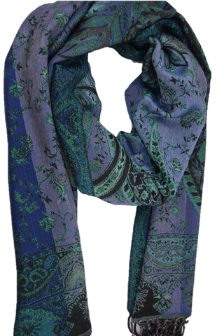 Women's Chic Pashmina - All shades of Blue - Mix