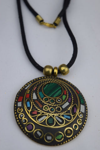 Trendsetter Necklace - Black/Multi Round