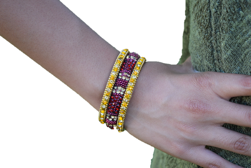 YellowRed Stand Out Bracelets