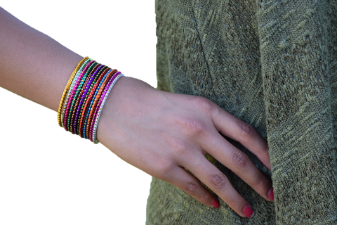 Glitter & Shine Multicolored  Bracelets Set