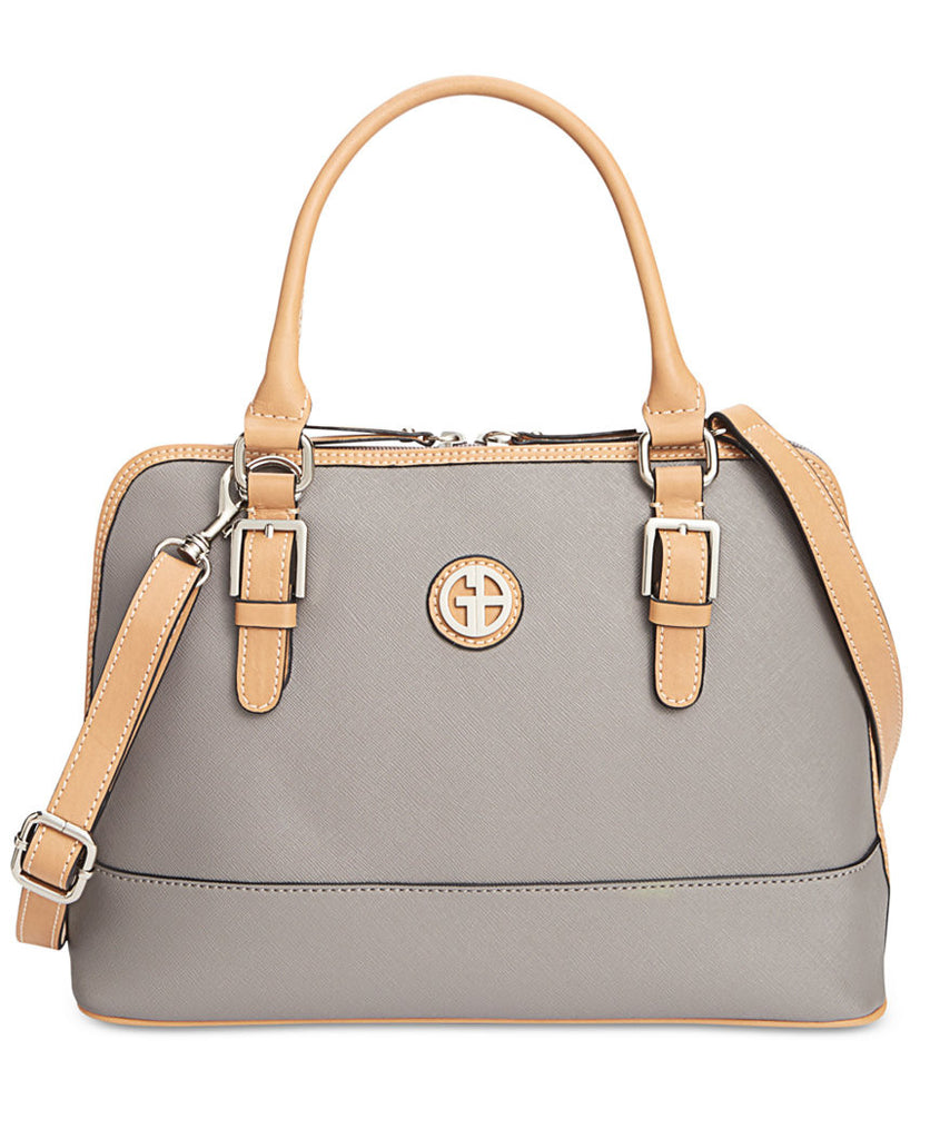 Giani Bernini - Saffiano Dome Satchel - Light Grey