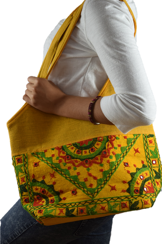 Chic Tote - Yellow/Green