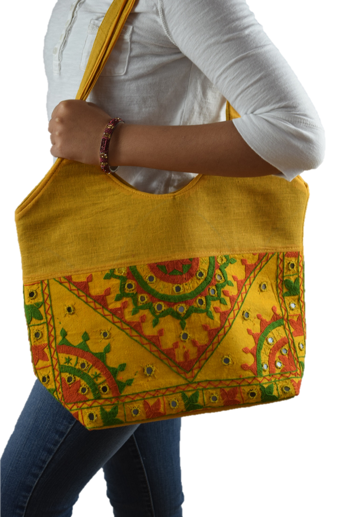 Chic Tote - Yellow/Red