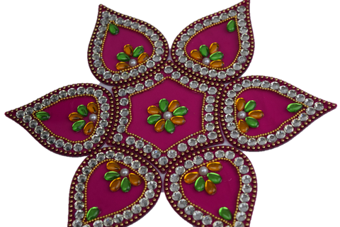 Rangoli (Floor Decoration) - Red/Pink