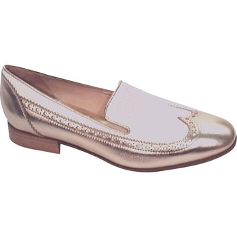 Marco Moreo cream and gold loafer