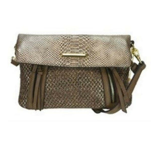 Bag | Abrianna fold over bag bronze