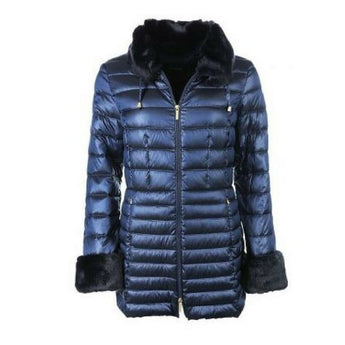 Beaumont jacket 73912 navy with fur trim