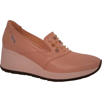 Marco moreo pink leather wedge shoe