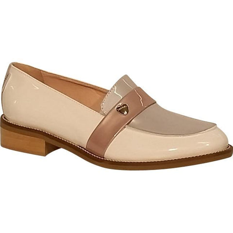 Marco Moreo cream and grey loafer B030