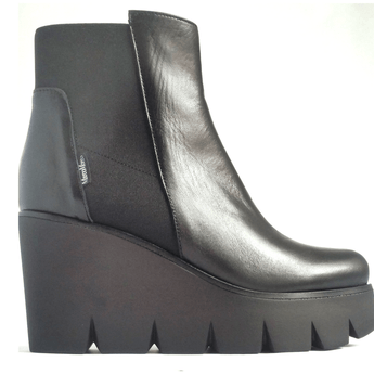 Marco Moreo boots Black high wedge platform ankle boot