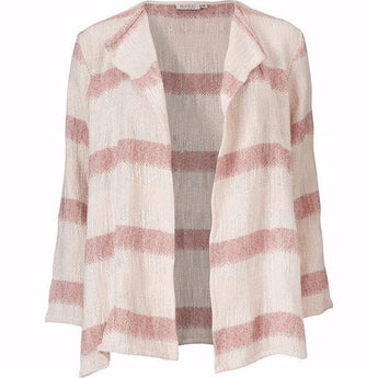 Masai Jacia jacket cream and pink stripe