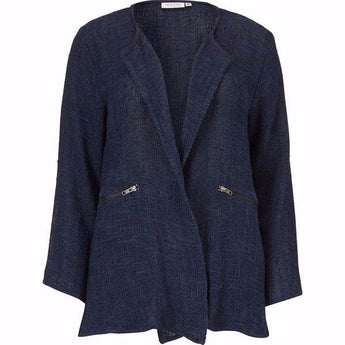 Masai Jacinda jacket navy cotton blend