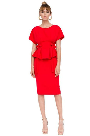 nissa clothing red top and skirt