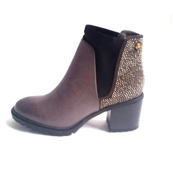 XTI grey ankle boot chelsea boot