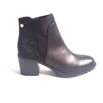 xti boot black heel with glitter back 47370