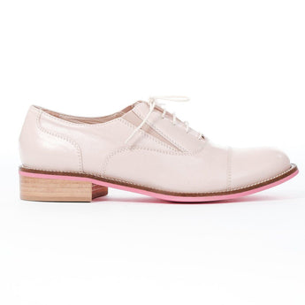 Pink leather brogue
