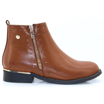 xti boot camel 48619 with flat heel