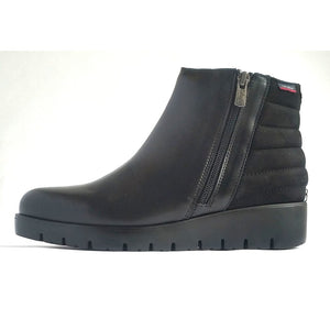 callaghan black leather and suede boot