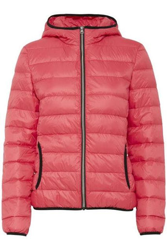 Fransa clothing puffer jacket for women coral
