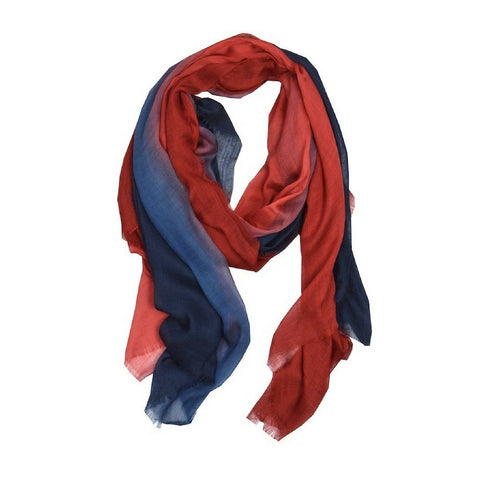 navy and red stripe scarf kyra and ko Ireland