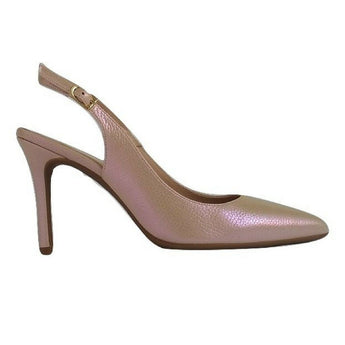 Metallic rose slingback