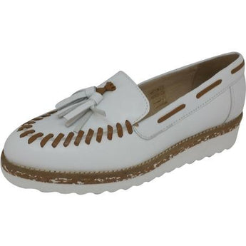 pinto di blu white and tan loafer