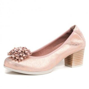 pitillos shoes  rosegold court shoe 1044