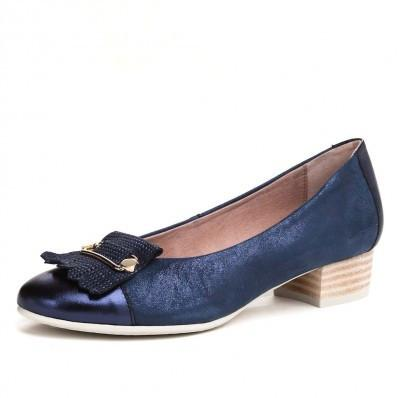 pitillos shoes navy low court shoe 1050