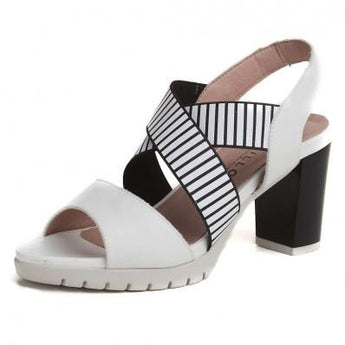 pitillos shoes black and white slingback sandal 1185