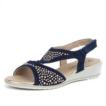 pitillos shoes navy slingback sandal 3510