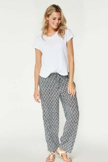casual wide leg printed trousers br smashed lemon