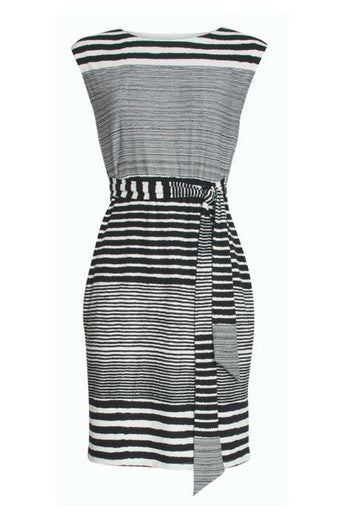smashed lemon black and white stripe dress