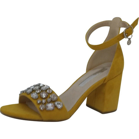 xti sandal colour yellow with block heel style 30755