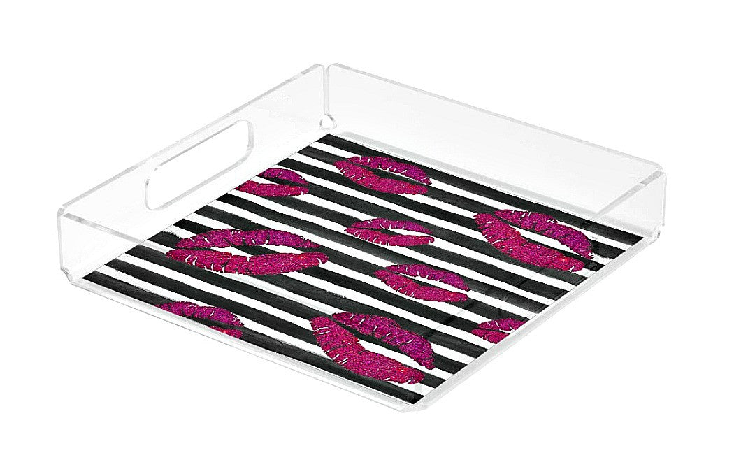 Acrylic Tray - Pink Pout - CRYSTAHHLED