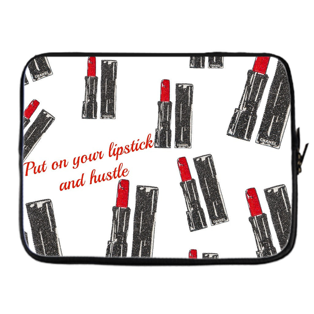 Laptop Sleeve - Lipstick & Hustle - CRYSTAHHLED
