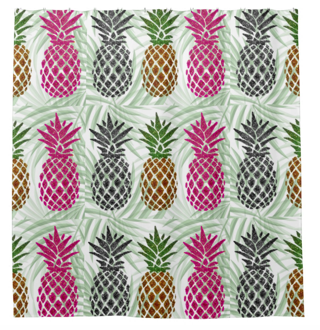 Shower Curtain - Pineapple - CRYSTAHHLED