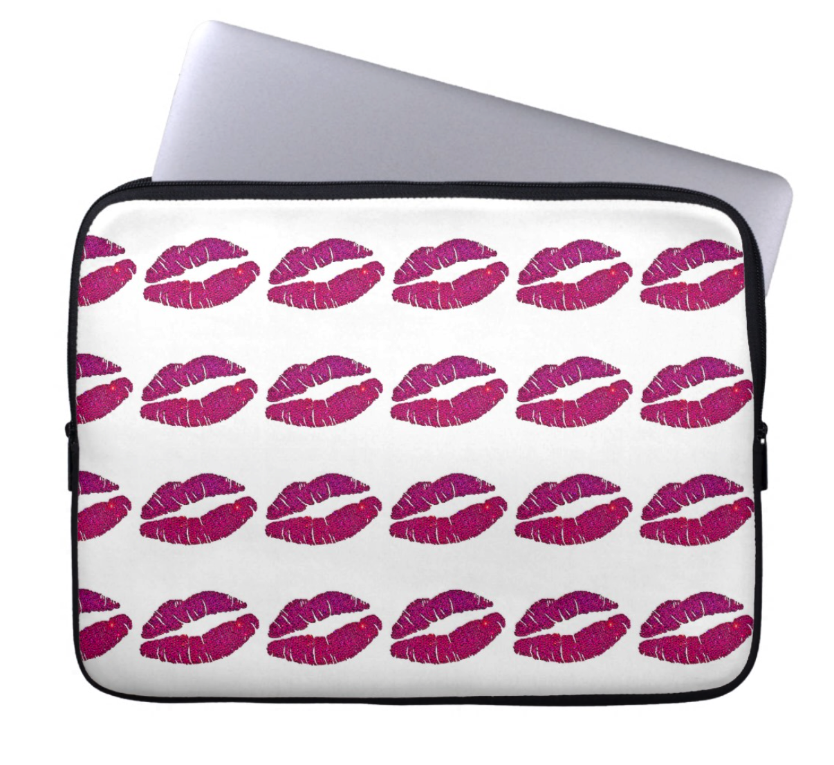 Laptop Sleeve - Pink Lips - CRYSTAHHLED