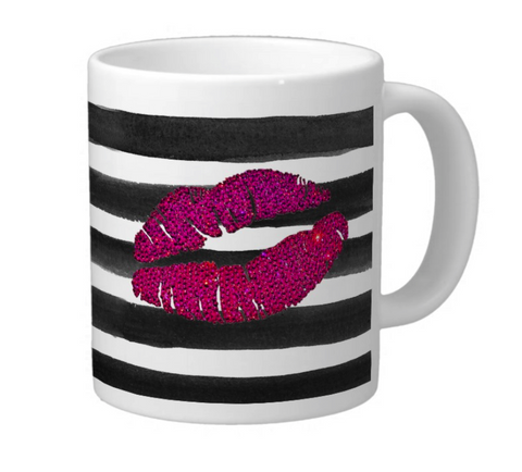 Pink Lips Coffee Mug luxury gift - Crystahhled