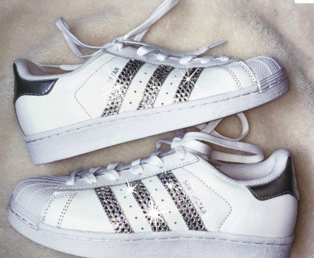 fe243f6a75781 Women's Adidas Originals Superstar with SWAROVSKI® Xirius crystal clear  Crystals