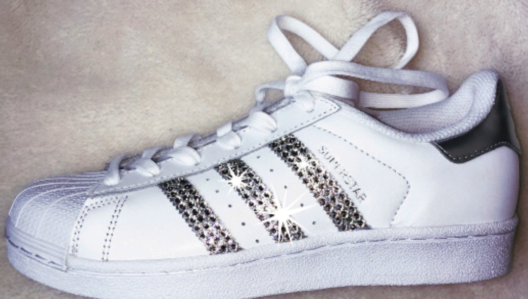 Women's Adidas Originals Superstar with SWAROVSKI® Xirius crystal clear Crystals - CRYSTAHHLED