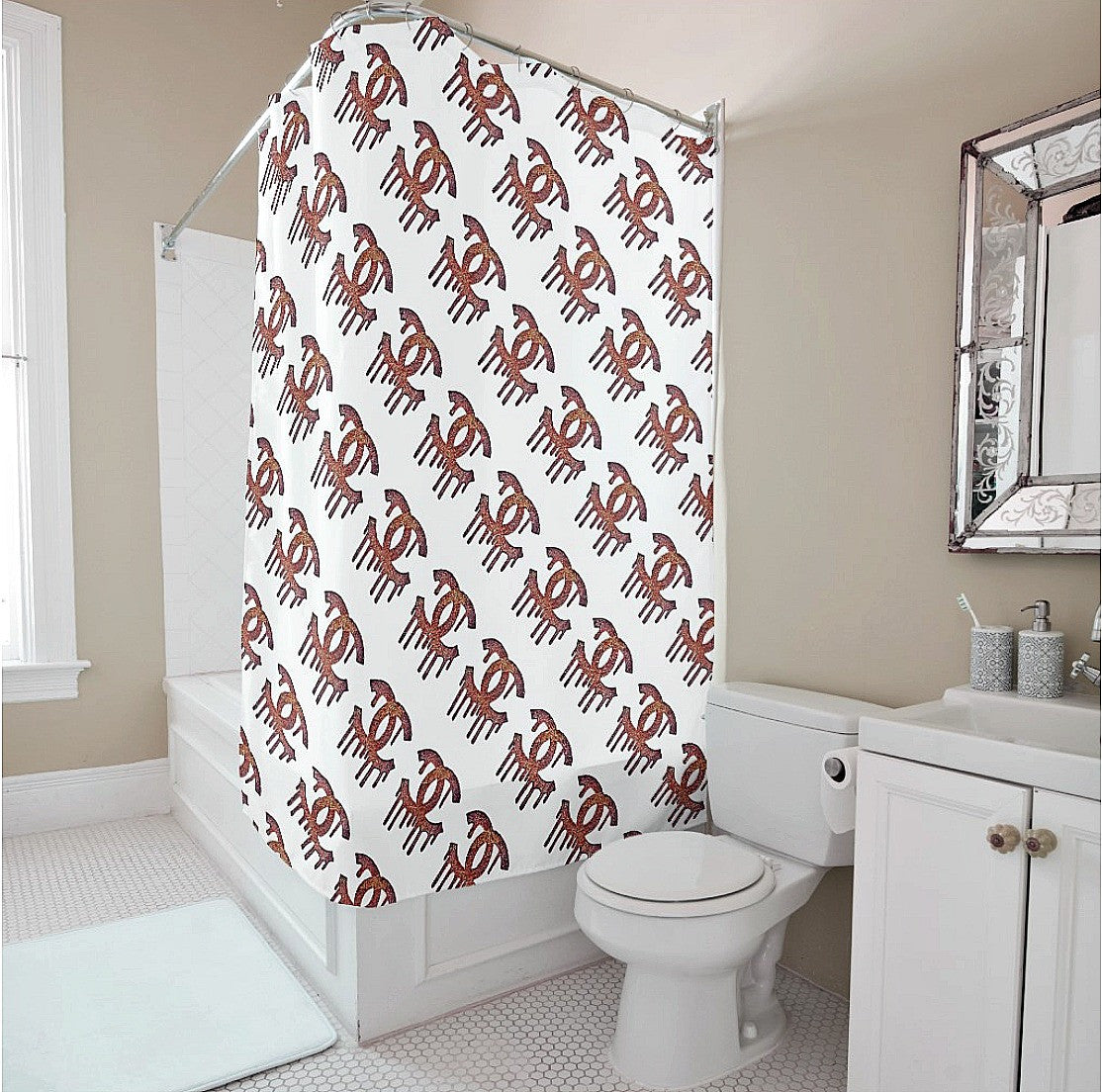 Shower Curtain - Dripping C's Multi - CRYSTAHHLED