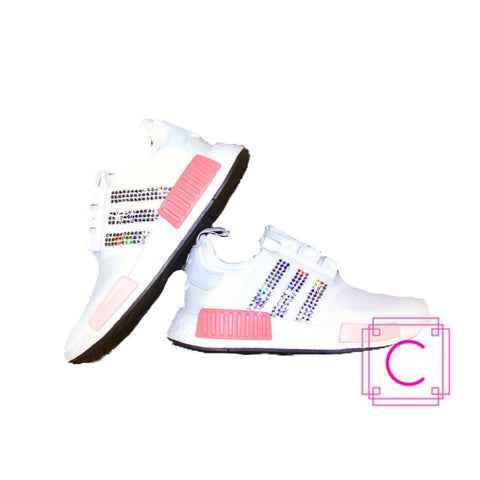 Women's Adidas NMD R1 with SWAROVSKI® Xirius Crystals - CRYSTAHHLED
