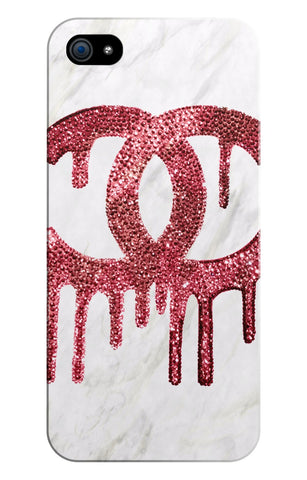 iPhone Case- White Marble Dripping C - CRYSTAHHLED