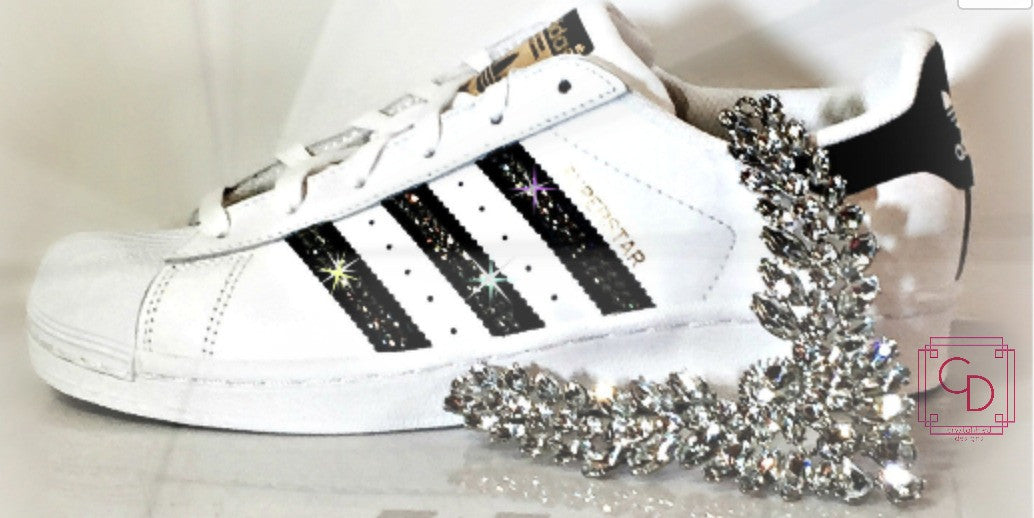 Women's Adidas Original Superstar with SWAROVSKI® Xirius Rose Crystals - CRYSTAHHLED