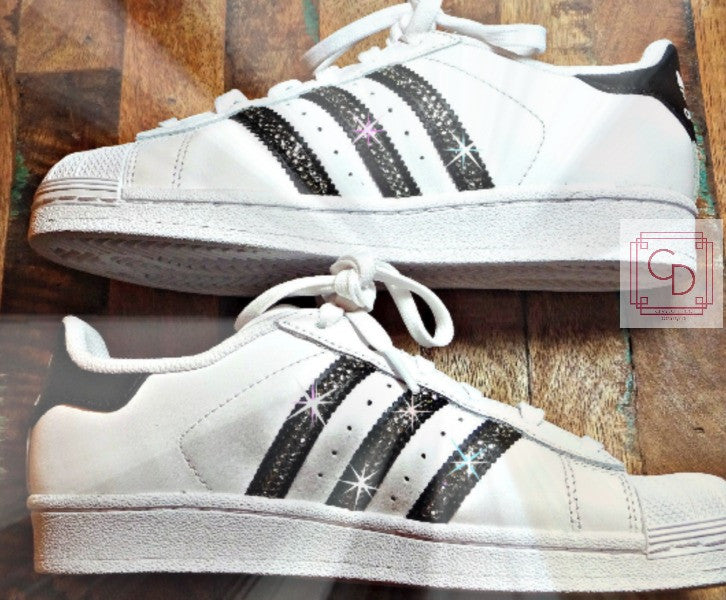 a9d71b537b4bf Women's Adidas Original Superstar with SWAROVSKI® Xirius Rose Crystals