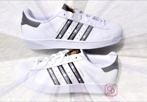 Women's Adidas Originals Superstar with SWAROVSKI® Xirius crystal clear Crystals